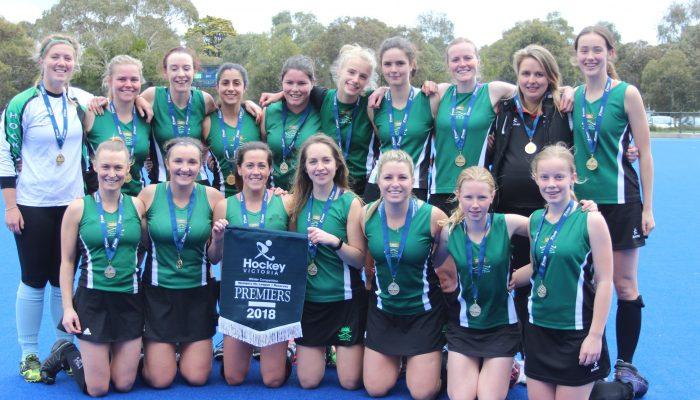 VLR 2018 premiers with medals